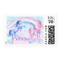 Unicorn Baby Shower Postage Stamps