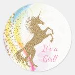 Unicorn Baby Shower Stickers