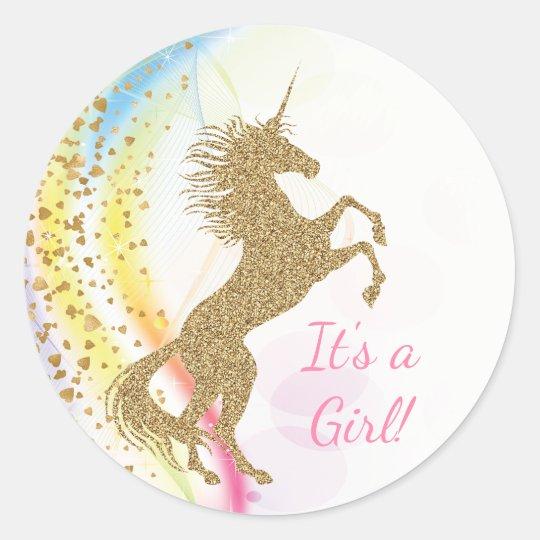 Unicorn Baby Shower Stickers Zazzle Com