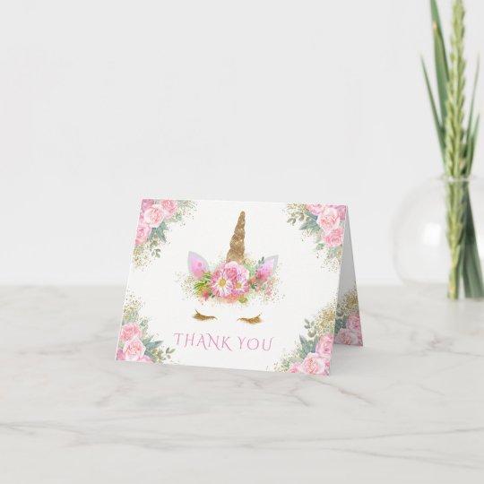 Unicorn Baby Shower Thank You Cards Zazzle