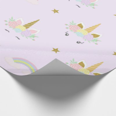 unicorn baby shower gift wrap paper zazzle com