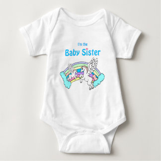 unicorn baby sister baby bodysuit