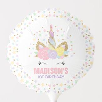 Unicorn Balloon Unicorn Birthday Party Balloon