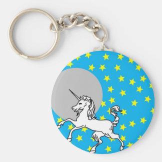 Unicorn Basic Round Button Keychain