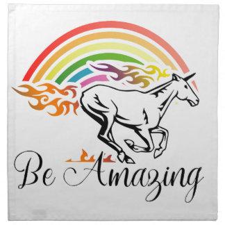 Unicorn Be Amazing Cloth Napkin