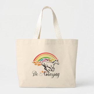 Unicorn Be Amazing Large Tote Bag