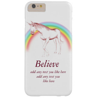 Unicorn believe iPhone case customize text