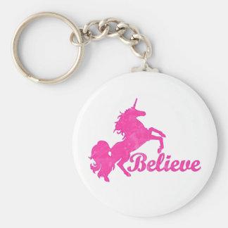 Unicorn, Believe Keychain