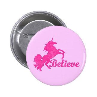 Unicorn, Believe Pinback Button