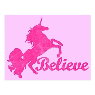 Unicorn, Believe Postcard
