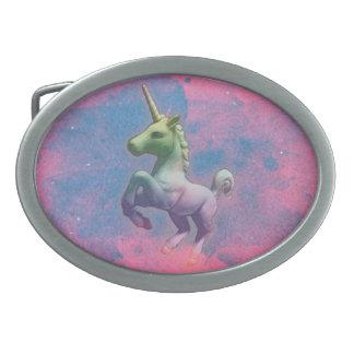 Unicorn Belt Buckle (Cupcake Pink)