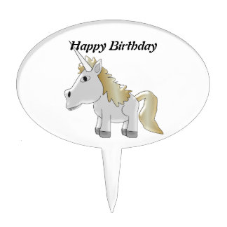 Unicorn Birthday Cake Topper