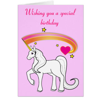 rainbow and unicorn birthday greeting cards  zazzle, Birthday card