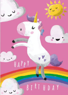 Unicorn Birthday Cards