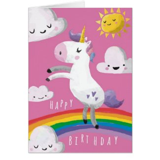 Unicorn Birthday Card
