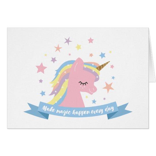 Unicorn birthday card make magic happen every day card zazzle unicorn birthday card make magic happen every day card bookmarktalkfo Image collections