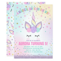 Unicorn Birthday Invitation Magical Unicorn Party