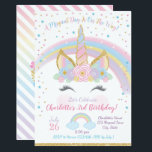 "Unicorn Birthday Invitation, Unicorn Party Invite<br><div class=""desc"">Pastel rainbow magical unicorn birthday invitations</div>"