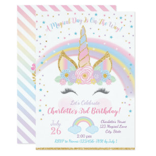 60 off birthday invitations shop now to save zazzle unicorn birthday invitation unicorn party invite filmwisefo