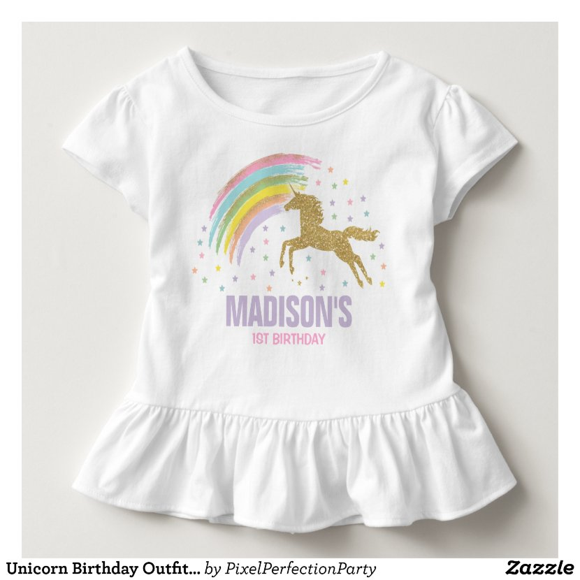 Personalized Unicorn Birthday T Shirt