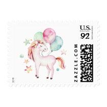 Unicorn Birthday Party   balloons stamp