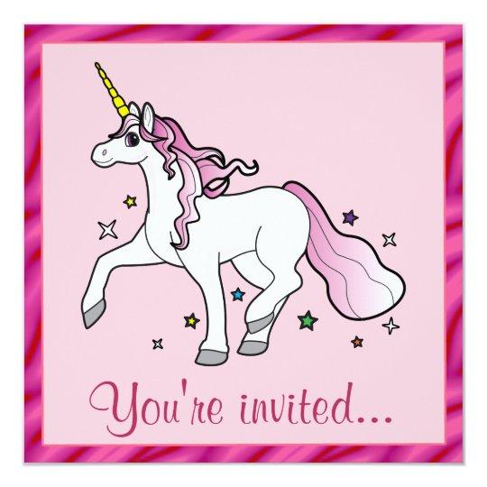 Unicorn Birthday Party Card