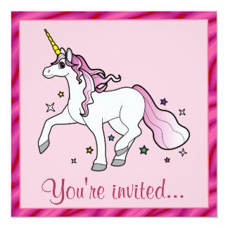 Unicorn Birthday Party Custom Invite