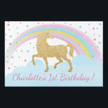 "Unicorn Birthday Party Lawn Sign Back Drop<br><div class=""desc"">Lawn sign or back drop perfect for your magical unicorn party!</div>"