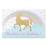 Unicorn Birthday Party Lawn Sign Back Drop<br><div class='desc'>Lawn sign or back drop perfect for your magical unicorn party!</div>