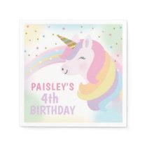 Unicorn Birthday Party Napkins