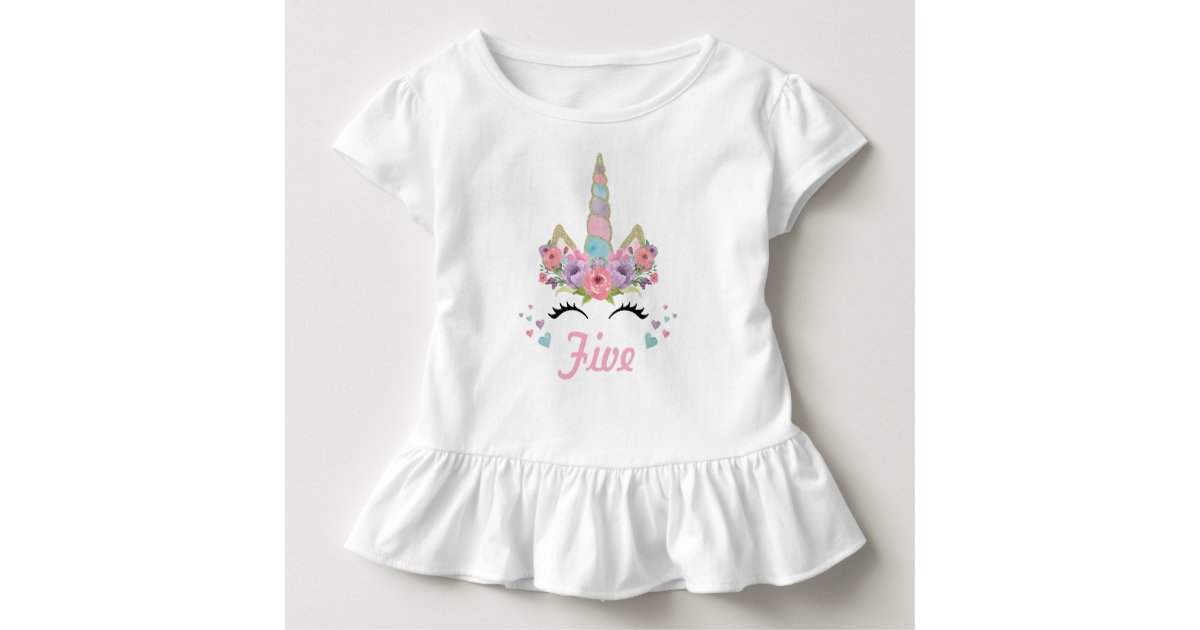 Unicorn Birthday Party Outfit Toddler T Shirt Zazzle Com