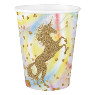 Unicorn Birthday Party Paper Cups