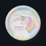 "Unicorn Birthday Party Paper Plates<br><div class=""desc"">Unicorn Birthday Party Paper Plates</div>"