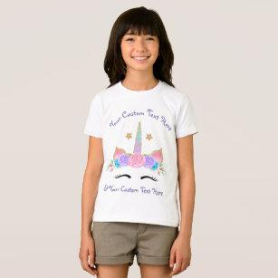Unicorn Birthday Shirt Monogram Custom Text