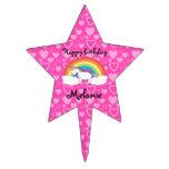 Unicorn birthday star cake topper