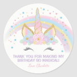 "Unicorn Birthday Star Favor Stickers<br><div class=""desc"">Unicorn Birthday Star Stickers</div>"