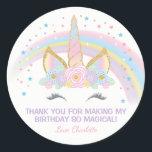 "Unicorn Birthday Star Favor Stickers<br><div class=""desc"">Unicorn Birthday Star Stickers</div>"