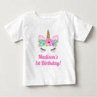 Unicorn Birthday T-Shirt Baby Toddler Child