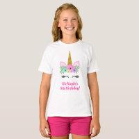 Unicorn Birthday T-Shirt Child Kid