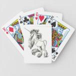 Unicorn black and white card decks