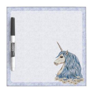 Unicorn Blue Hair Dry Erase Board