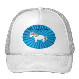 Unicorn blue sunburst hat