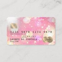 Unicorn boho art Credit Card Style Gold