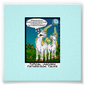 Unicorn Bonding Funny Canvas Print
