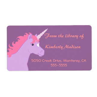 Unicorn Book Label