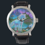 """Unicorn Bridge Watch<br><div class=""""desc"""">You&#39;re wandering around in a magical world of dragons and unicorns,  and suddenly you need to know the time. This watch would be ideal</div>"""