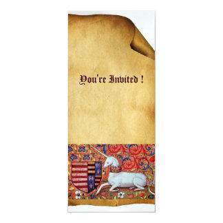 UNICORN ,brown blue white red ice metallic Card
