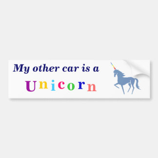 Unicorn bumper sticker