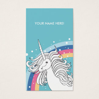 UNICORN BUSINESS CARD BLUE