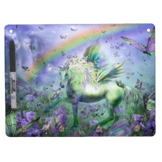Unicorn Butterflies And Rainbows Dry Erase Boards
